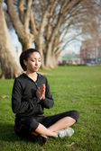 Meditating yoga woman — Foto de Stock