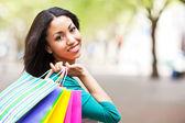 Black woman shopping — Stock Photo
