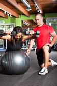 Treinamento pessoal — Foto Stock