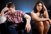 Couple in trouble — Stock Photo
