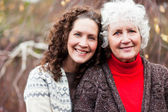 Grandmother with her daughter — Stock Photo