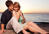 Romantic couple in love — Stock Photo