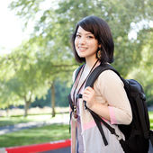 Mixed race college student — Stock Photo