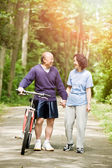 Senior active asian couple — Stock Photo