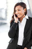 Black businesswoman on the phone — Stock Photo