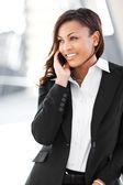 Black businesswoman on the phone — Stock Photo