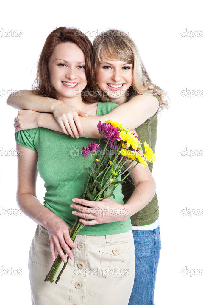 A portrait of a happy mother and daughter celebrating mother's day  Stock Photo #5655204