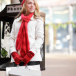 Caucasian woman shopping - Stock Photo