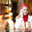 Woman talking on the phone — Stock Photo #5821993
