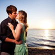 Kissing romantic couple — Stock Photo