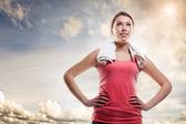 красивый спортивный женщина — Стоковое фото