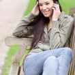 Ethnic student on the phone — Stock Photo #6264761