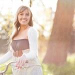 Beautiful Caucasian woman outdoor — Stock Photo #6264850