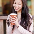 woman drinking coffee — Stock Photo
