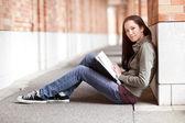 Ethnic college student studying — Photo