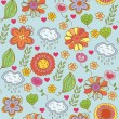 Nature ornate floral seamless pattern - Stock Vector
