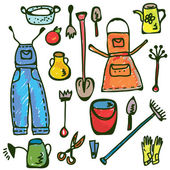 Ogrodnictwo narzędzia zestaw — Wektor stockowy