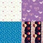 verzameling van grappige naadloze patroon — Stockvector