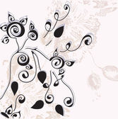 Invitation vintage floral card — Stock Vector
