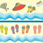 Set of beach seamless borders — Stock Vector #5686138