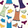 Lingerie funny seamless pattern - Vettoriali Stock 