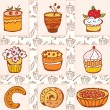 Set of doodle cakes — Stock Vector #5833323