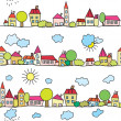 Town seamless funny pattern — Stock Vector #5882666