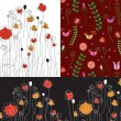 Set of banners with poppy — Image vectorielle