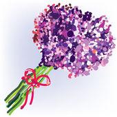 Soyut buket çiçek — Stok Vektör