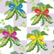 Pea seamless kitchen pattern — Imagen vectorial