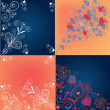 Stock Vector: Set of decorational backgrounds