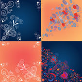 Set of decorational backgrounds — Stock Vector
