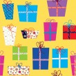 Seamless pattern with gifts - Stock vektor
