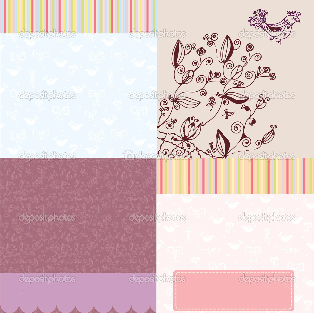 Background greeting set of cards — Grafika wektorowa #6315425