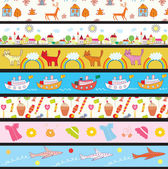 Funny kids borders — Stock Vector