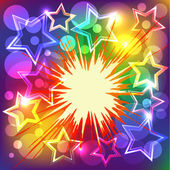 Vector illustration of colorful explode. — Stock Vector