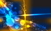 Abstract background with blurred neon light dots. — Stock Vector