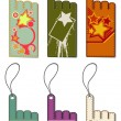 Set of colorful price tags. — ストックベクタ