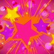 Vector illustration of colorful stars explode. — Stock Vector
