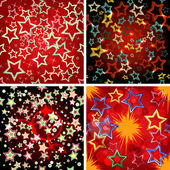 Set of 4 seamless stars patterns. — Stock Vector