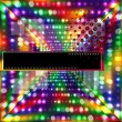 Blurry glowing neon circle light effect background. — Imagen vectorial