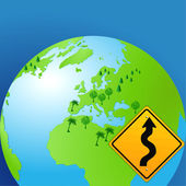 World curves sign — Stock Vector