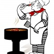 Grill Master — Stock Vector #5416328