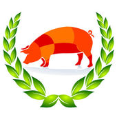 Quality Pig Sign — Stock Vector