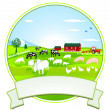 Stock Vector: Farm-Button