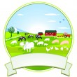 Farm-Button — Stock Vector