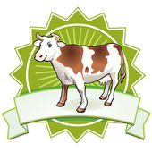 Quality Cow Sign — Stock Vector