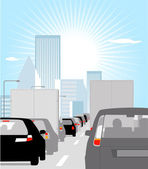 Rush hour — Stock Vector