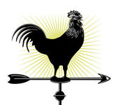 Weather cock — Stock Vector