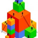 construção de cubo — Vetorial Stock